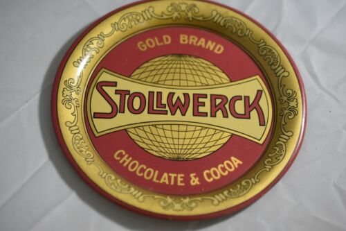 Antique Advertising and Tip Tray for the Chocolate & Cocoa Maker Stollwerck