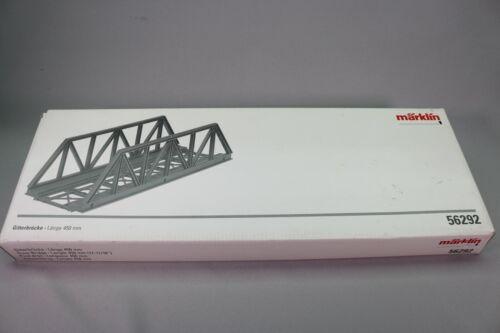 ZS112 MARKLIN train 1 56292 Pont droit Truss bridge Gitterbrücke 45 cm