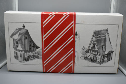 "Dept 56 North Pole ""Gift Wrap & Ribbons"" ""Candy Cane"" Starter Set- NOS, 56390"