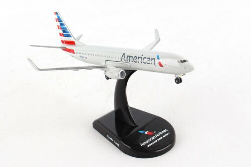 POSTAGE STAMP AMERICAN AIRLINES 737-800 1:300 SCALE DIECAST METAL MODEL