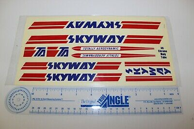 1990 GT BMX Aggressor restoration decal set on clear Red Blue Yellow /& White