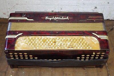ANTIQUE Royal Standard ACCORDION & CASE