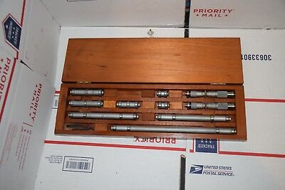 Lufkin Inside Micrometers Vintage Borerod Guage 1 - 10 548