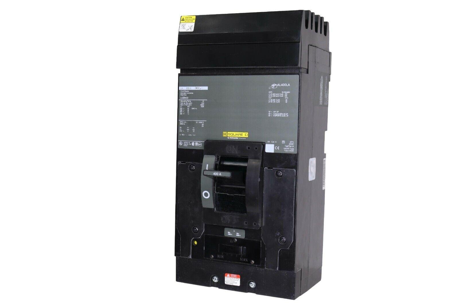 LA36400 Square D 400 Amp 600 Volt 3 Pole I-line LA400 - $850.00