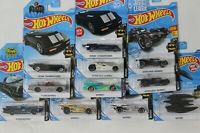 Hot Wheels BATMOBILE & BATPLANE Lot of 11 All Different
