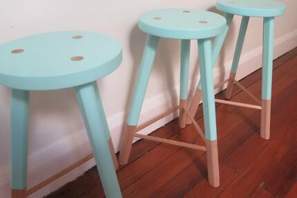 3 x Green Cathedral Babanees stools - as new Balgowlah Manly Area Preview