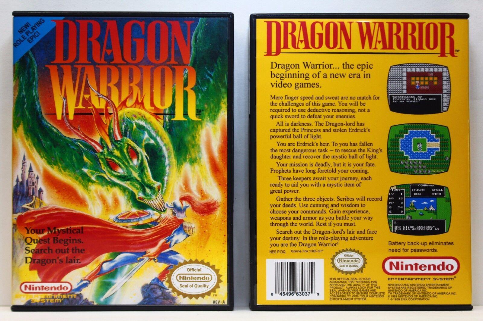 Dragon Warrior I 1 - Nintendo NES Custom Case - *NO GAME*   Wundr-Shop