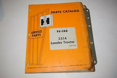 International Harvester 3514 Loader Tractors Parts Catalog