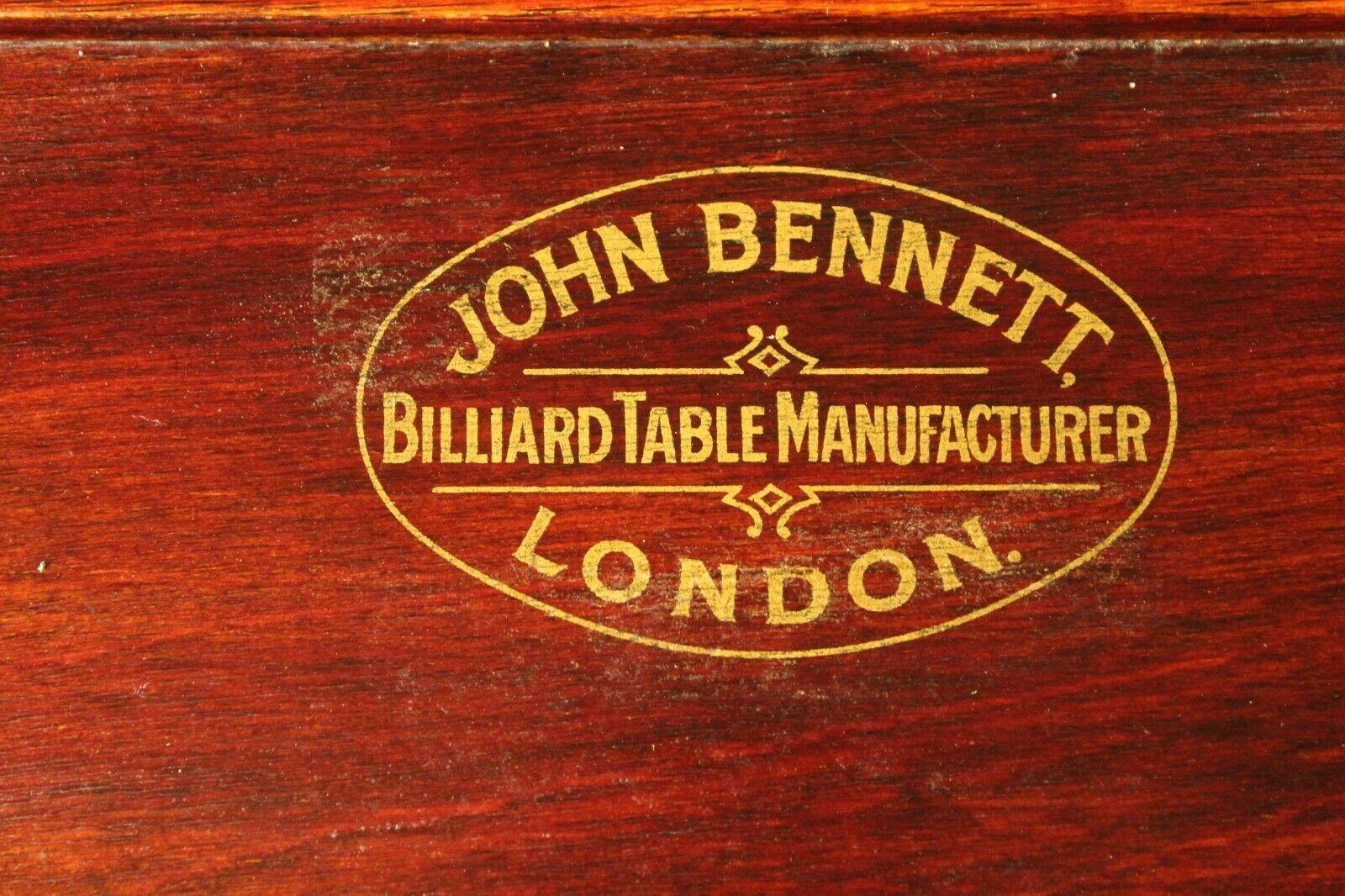 RARE ANTIQUE JOHN BENNETT OF LONDON SNOOKER SCOREBOARD BILLIARDS
