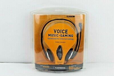 Plantronics Voice Music Gaming Stereo Headset Audio 326 Optimized Skype Chat