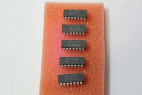 5 Motorola MC1723L IC DIP 14 Ceramic