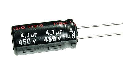 4pcs Panasonic Nhg 4.7uf 450v 105c Radial Electrolytic Capacitor