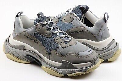 Balenciaga Triple S Men's Sneakers Trainers Runners Grey/Blue/ White Sz 43/ 10