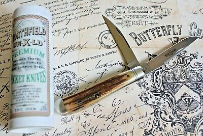Great Eastern Cutlery USA Northfield Sambar Stag Slim Trapper Knife 488217