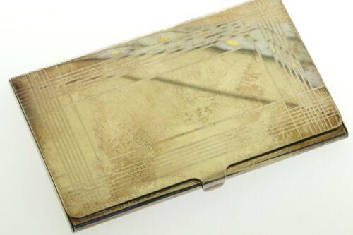 Tiffany & Co. silver card holder w/ box