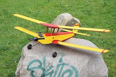 RC Modellflugzeug Doppeldecker KaDeWe Graupner OS FS 52 S 35 MHz Flugzeug HOLZ
