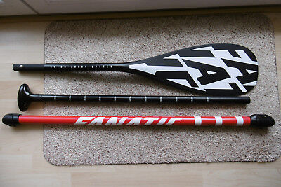 Fanatic Carbon 35 SUP Paddel, sehr guter Zustand - 3 teilig