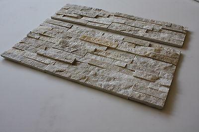 Marmor Natursteinwand Wandverblender  Riemchen Echtstein WQZ-3 creme Fliesen