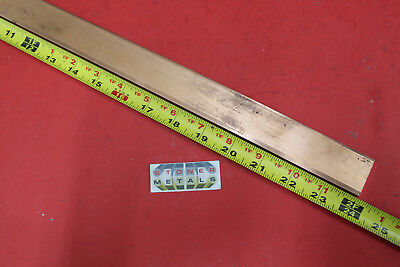 14x 1-14 C110 Copper Bar 24 Long Solid Flat Bus Bar Stock H02