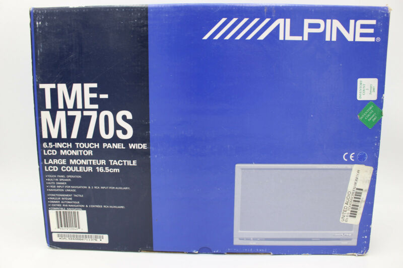 "Alpine TME-M770 & TME-M770S Bundle 6.5"" headrest touch screens COMPLETE IN BOXES"