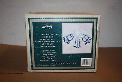 Hunter 3 Light Ceiling Fan Light Kit Traditional Design Tiffany Art Glass 27062 Ceiling Fan Light Kit Glass