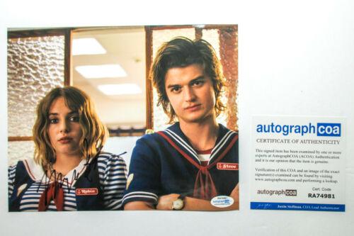 Maya Hawke Signed Stranger Things 8x10 Photo EXACT Proof ACOA COA C