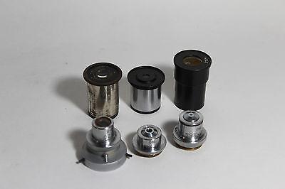 Lomo Microscope Polarizing 190mm Tube Set 3 Objectives 3 Eyepieces