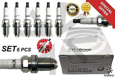 6 PCS BMW Spark Plugs NGK Double Laser Platinum 12120037607 for E39-E46-M54 3199