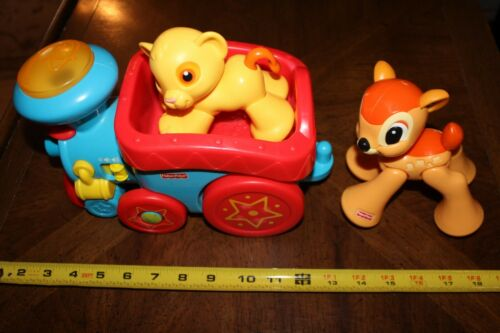Fisher Price Disney Baby Sing-Along Choo-Choo Train Simba Bambi Rollin Tunes
