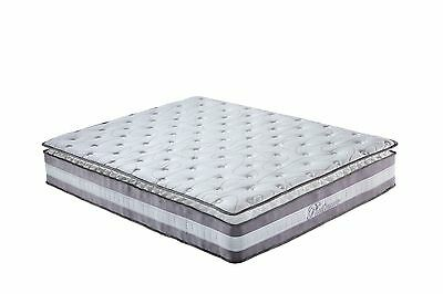 "High-Density 13"" Plush Pillow Top Hybrid Memory Foam & Spring Mattress - Queen"