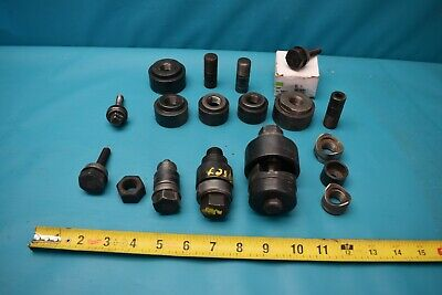 Used Lot Of Greenlee Conduit Knockout Punch Die Set