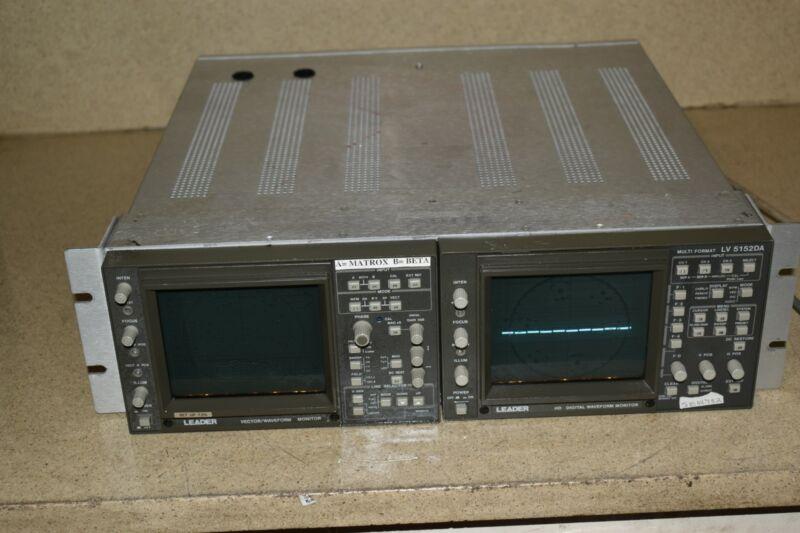 LEADER 5872A VECTOR & LV 5152DA HD WAVEFORM MONITORS