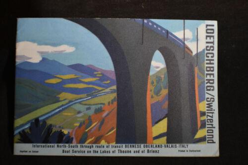 Loetschberg Railway Swittzerland Brochure *MAPS*