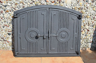 480 x 380mm Cast iron fire door clay / bread oven / pizza stove smoke house