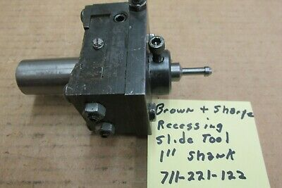 Brown Sharpe Slide Tool With Recessing Tool Head