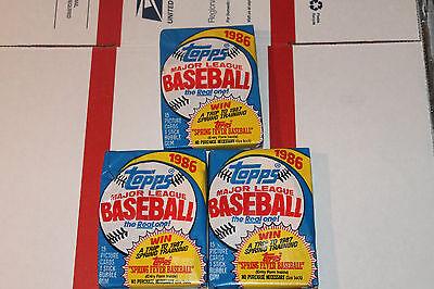 1986 Topps Baseball Packs!! Vintage unopened Lot.