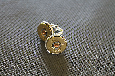 20 Gauge Shotgun Shell Head Cuff Links; Shotgun Shell Jewelry