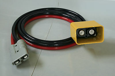 2 Meter Tail Lift Lead - Anderson Plug to Male Coupling Cowbell 35 mmSq Twinflex