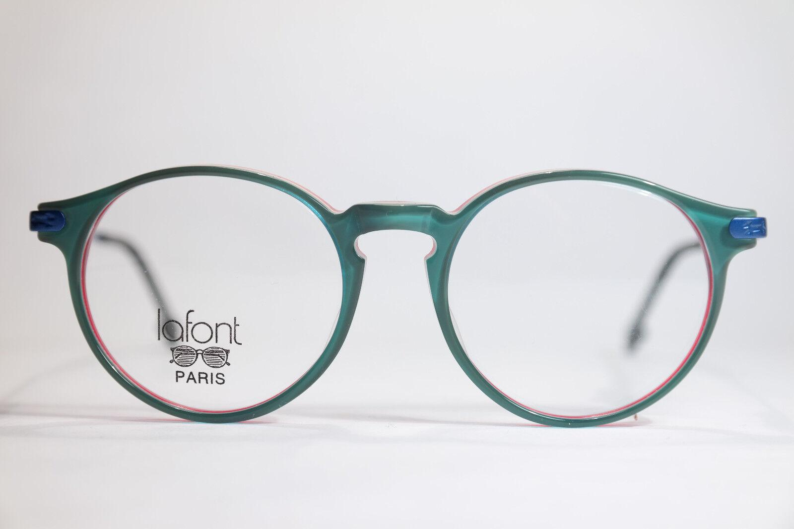Lafont Victor 44 171 Kinderbrille 44[]16 135 Grün Blau Rot oval NEU
