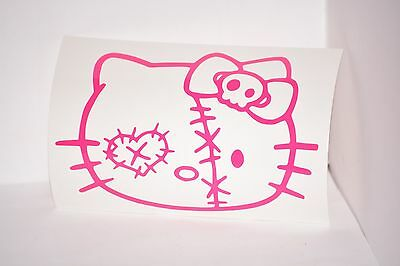 Hello Kitty Zombie Vinyl Car Laptop iPad Mac Tablet Decal Sticker Choose Color