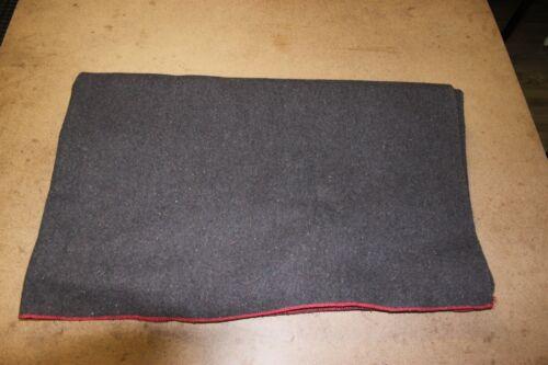 "Vintage Mitin Mothproof Brown/Grey Wool Blanket - SWISS/DUTCH MADE 79""x64"" Warm"