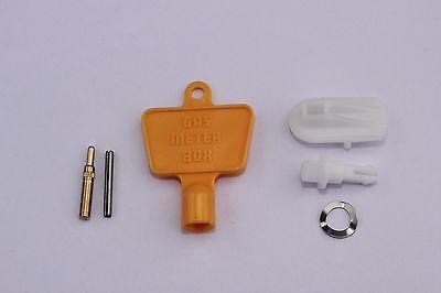 FULL GAS / ELECTRIC METER BOX REPAIR KIT Inc DOOR LATCH/LOCK, HINGE & METER KEY