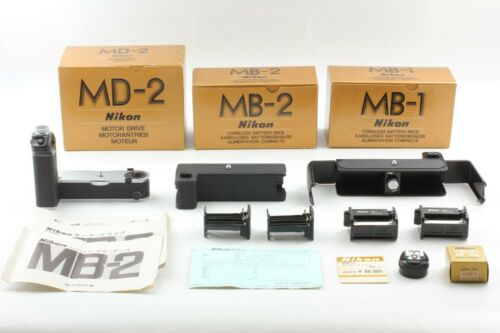 [Unused in Box] Nikon MD-2 Motor Drive w/MB-1,MB-2,AS-1 for F2 from Japan #043