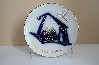 KPM Berlin, Weihnachtsteller 1978,limitierte Auflage, 1. Wahl