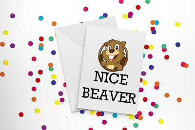Beaver Funny Card Idea for Birthdays Valentines Gift Anniversaries Perfect Charm