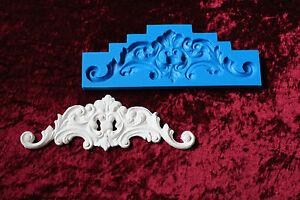 Silikonform Negativform Gießform für Gips Stuck Verzierung Dekor Relief  *80