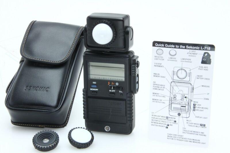 SEKONIC DIGI MASTER L-718 Exposure & Flash Light Meter w/ case tested 390105