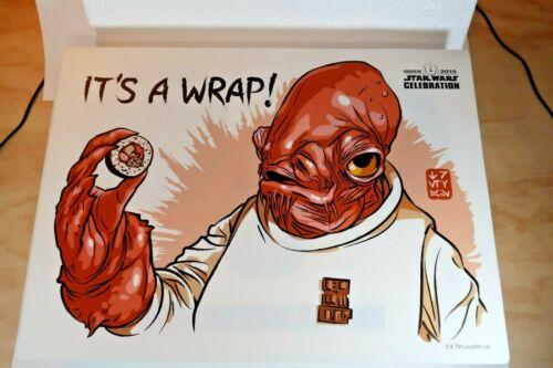 *NEW Star Wars Celebration 2015 Admiral Ackbar Sushi Set Bowl Plate Chopsticks