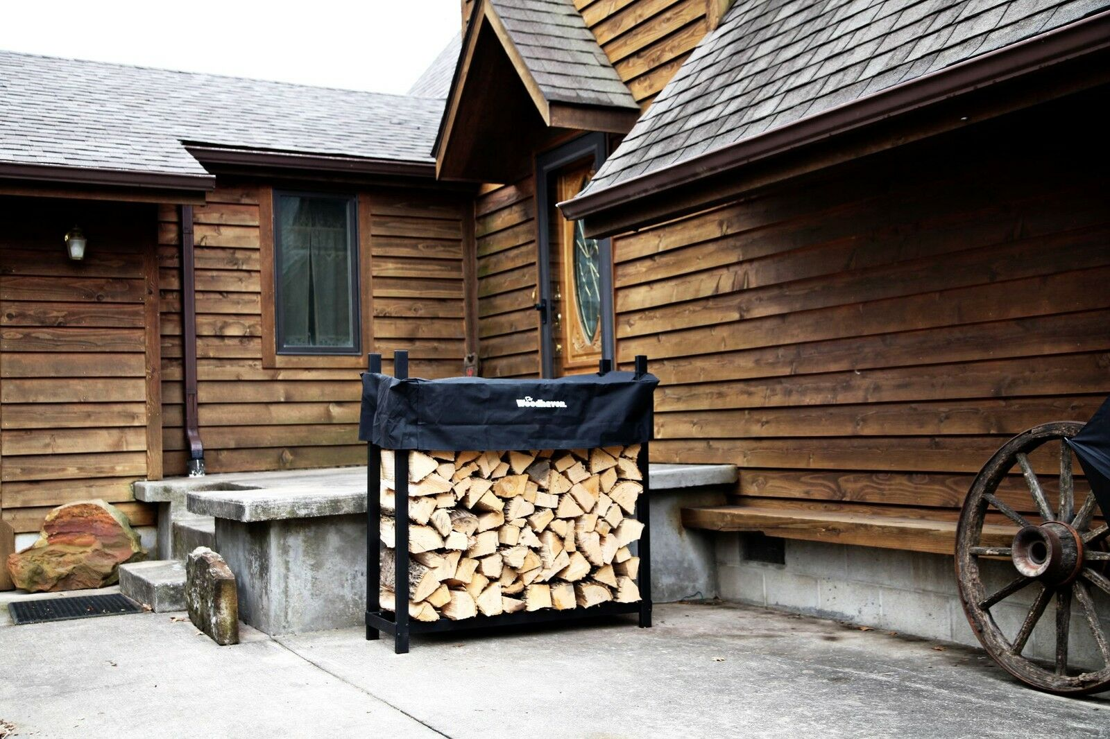 Woodhaven Firewood Racks and Covers