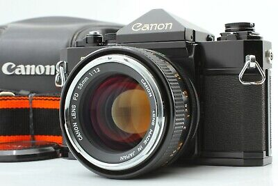 [Near Mint in Case] Canon New F-1 35mm Film Camera FD 55mm F1.2 Lens  Japan